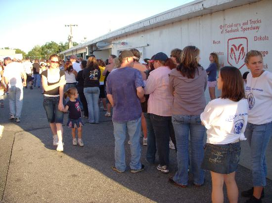 Seekonk Speedway: The line for the Ladies Room... good luck!