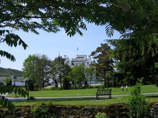 Blair Castle and Hercules Gardens: Blair Castle, near Pitlochry, Scotland