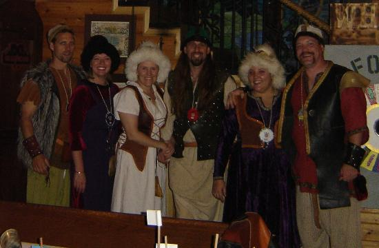 Nordic Inn Medieval Bed and Breakfast: Viking dress-up.  Just one part of the overall experience...