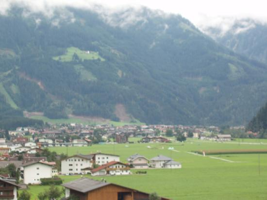 Hotel Eckartauerhof : View from balcony, Mayrhofen in distance.
