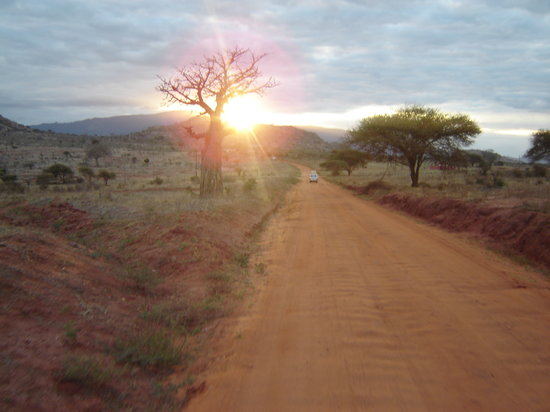 Bamburi Beach Hotel: sunset in tsavo