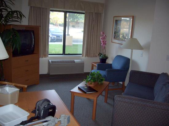 Comfort Suites Palm Desert I-10: Separate Living Room With Sofa Sleeper And TV