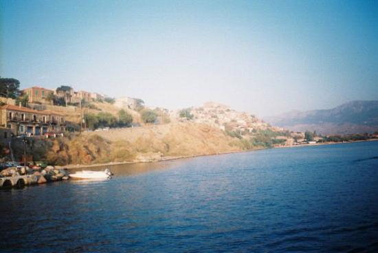 Eftalou Hotel : Molyvos from harbour
