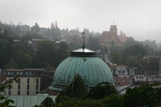 Friedrichsbad Römisch-Irisches Bad: Dome of the Roman Irish Bath from up on the hill