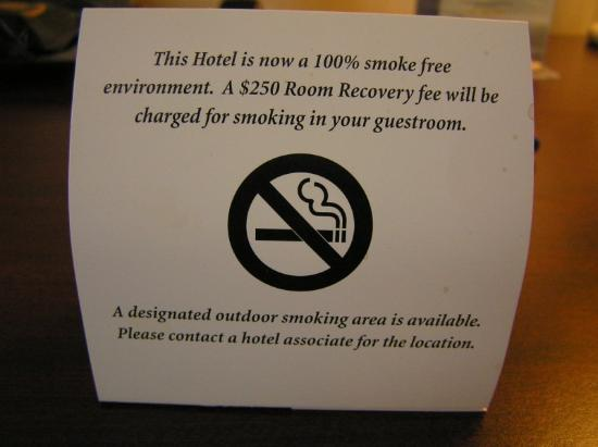 Fairfield Inn East Rutherford Meadowlands No Smoking Sign