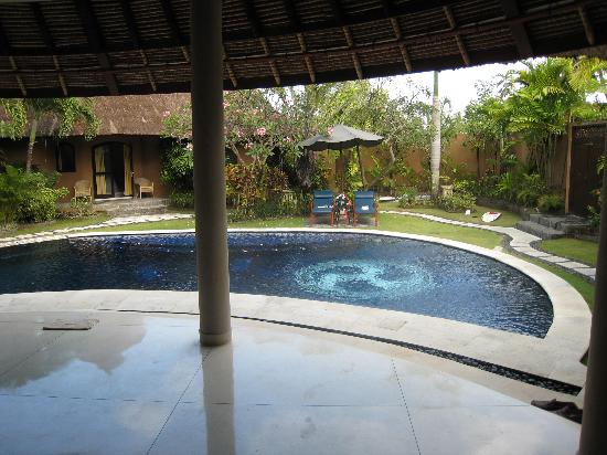 Dusun Villas Bali: Overlooking the pool