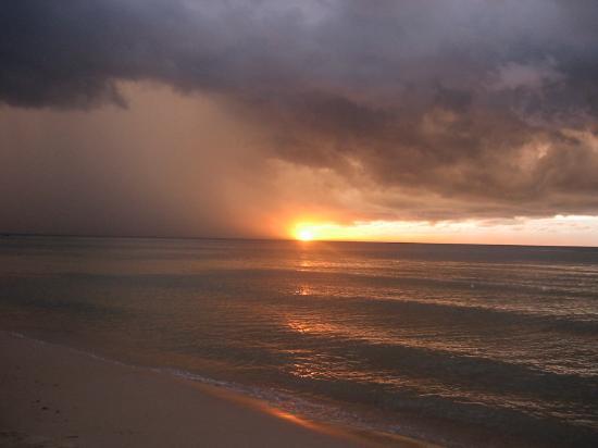 Sarawak, Malaysia: Sun set at Santubung Beach