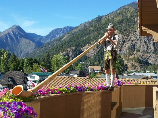 Enzian Inn: Alpine horn player
