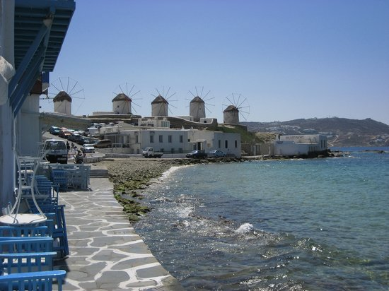 Mikonos, Yunanistan: The Windmills, Mykonos 2007