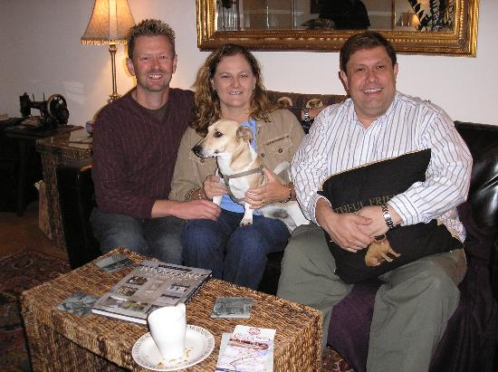 Boogaard's Bed and Breakfast: Peter, Pepe, and us - the guests!