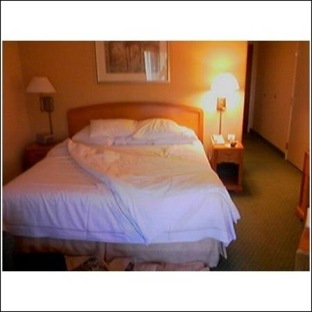 Courtyard Dulles Town Center: Bed in Large Room with Balcony
