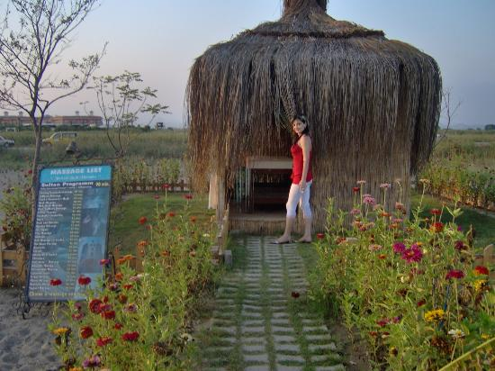 Bogazkent, Turquía: La cappannina per i massaggi in spiaggia