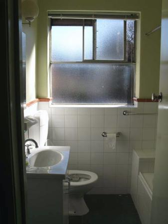 Birches Serviced Apartments: Bathroom - there is a blind but we kept it up so the steam could go out the window