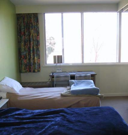 Birches Serviced Apartments: View from Bathroom across Bedroom