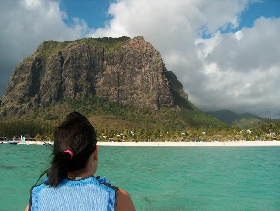 LUX* Le Morne : Mount Brabant from the sea