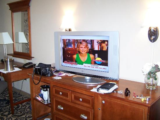 Hilton Columbia Center: very nice TV!