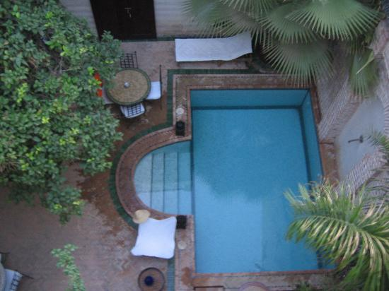 Riad Amira : view of pool from roof