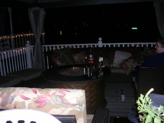 Katy's Inn: Outdoors at night, around the firepit