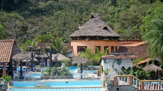 Rio Selva Resort - Yungas: View from our Depatmento across pools to Bar / Restaurant