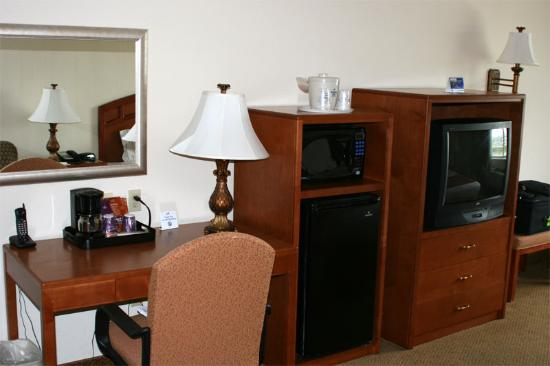 Spring City Inn: TV, Microwave & Fridge - Our Wi-Fi worked well, too
