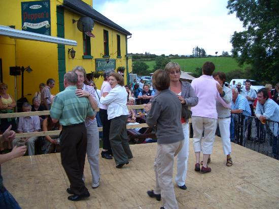 Cross-roads dance at Peppers, down the road from Laccaroe House in Feakle