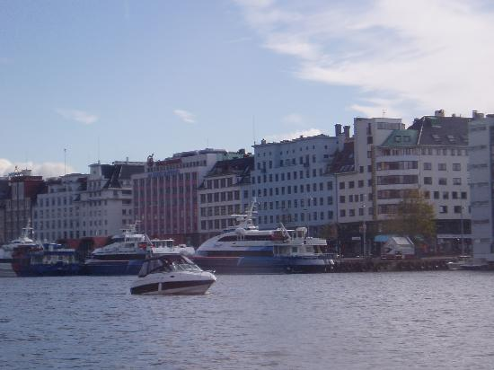 Bergen, Norway: view towards the Fjord1 terminal