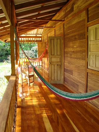 Casa Viva Beach Houses: the porch of our cabina, where we spent a lot of time