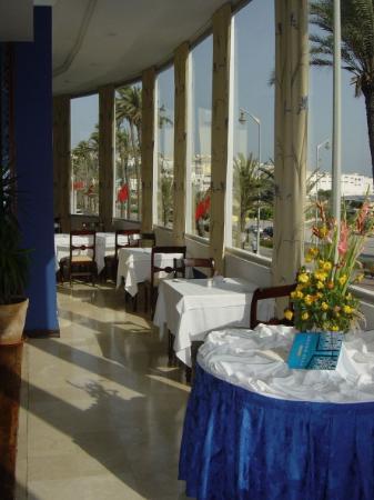 Atlas Rif Front Beach Tanger : Tanger - Hotel Rif - Blick aus dem Frühstückszimmer