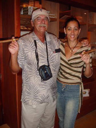 Oranjestad, Aruba: You've got to trust a Gal who smokes cigars !, Thanks, Janine