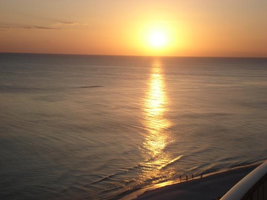 Ocean Villa Condos: sunsets you can view from the couch or balcony