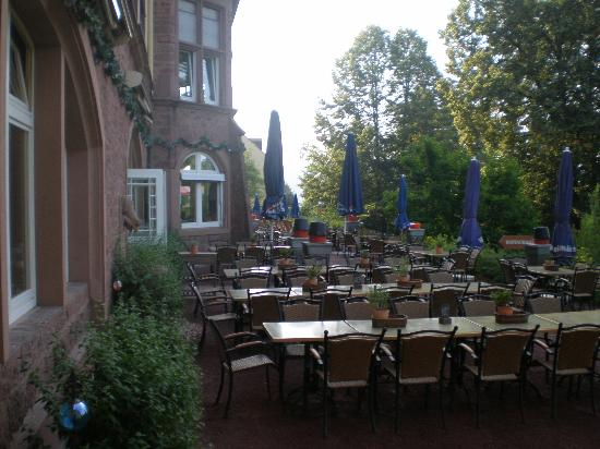Hotel Franziskushöhe: the back terrace