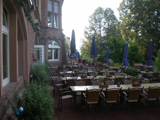 Hotel Franziskushöhe: the back terrace