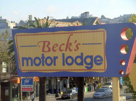 Sign From Market Street Picture Of Beck 39 S Motor Lodge