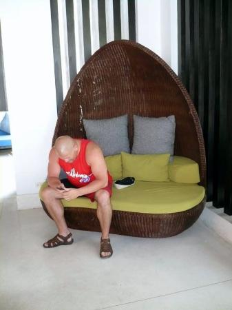 Centara Karon Resort Phuket: Cool furniture in bar area