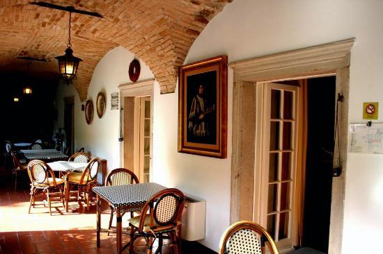 Hotel San Filis: Il porticato dove si cena