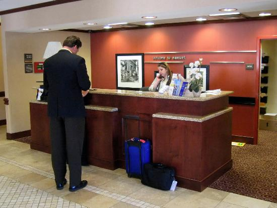 Hampton Inn Nanuet : Lobby Reception Area