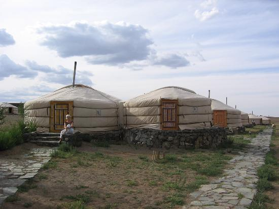 Gobi Gurvansaikhan National Park, Mongolia: the attached ger is the private bathroom