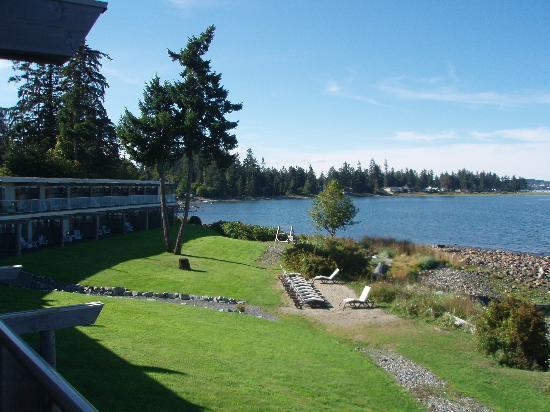 Kingfisher Oceanside Resort and Spa: Resort Lawn facing beach