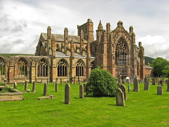 Melrose Abbey, Melrose, Borders, Scotland