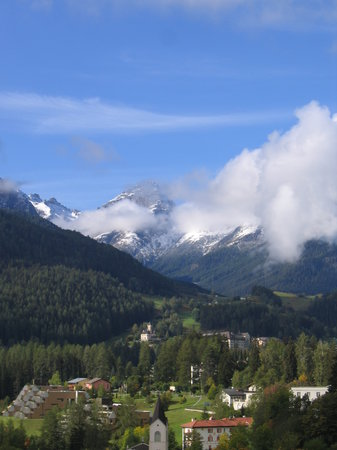 Scuol, Zwitserland: View West from room