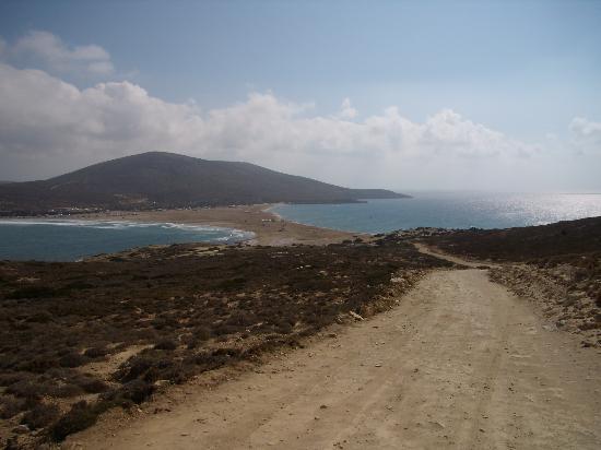 Hotel Panorama Gennadi: l'immense plage de Prassonissi à l'extrême sud de l'ile