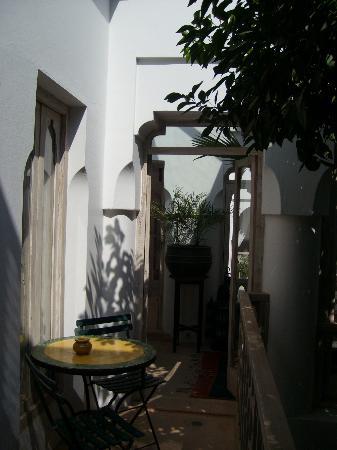 Riad Safa: Balcon de la chambre