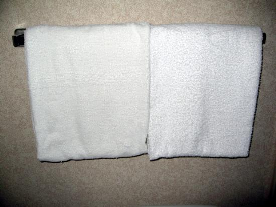 Holiday Inn Chicago North Shore (Skokie): Thread-bare and stained towels