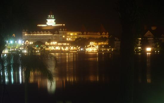 Disney's Polynesian Village Resort: Floridian at night from room 1215