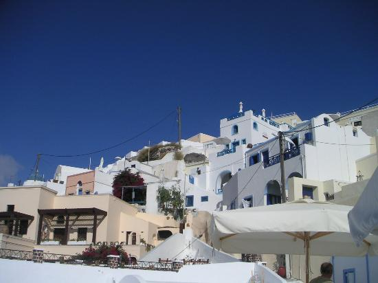 Uranos Traditional Houses: View from our terrace, looking up
