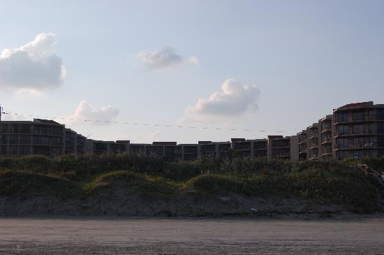 Sandcastle Condominiums & Conference Center: View of the hotel from the beach.