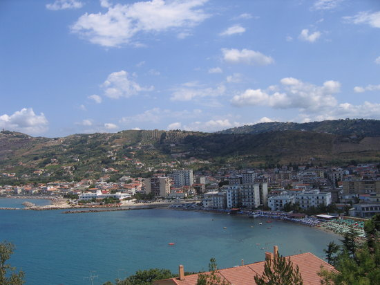 One of Agropoli's beaches near the downtown area