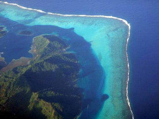 Flying to Bora Bora