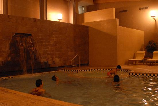 Hotel del Lago: Indoor swimming pool at night