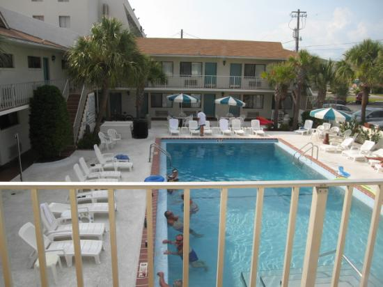 Pool From Room 204 Picture Of Sunset Inn Panama City Beach